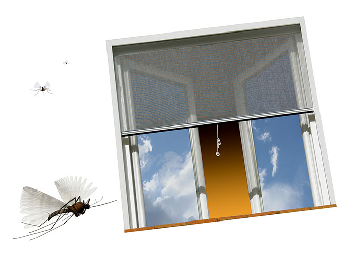 Poser une moustiquaire for Porte fenetre avec moustiquaire