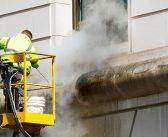 Nettoyer une façade extérieure